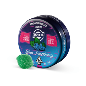Blue Raspberry Cannabis Infused Gummies Tin 100mg