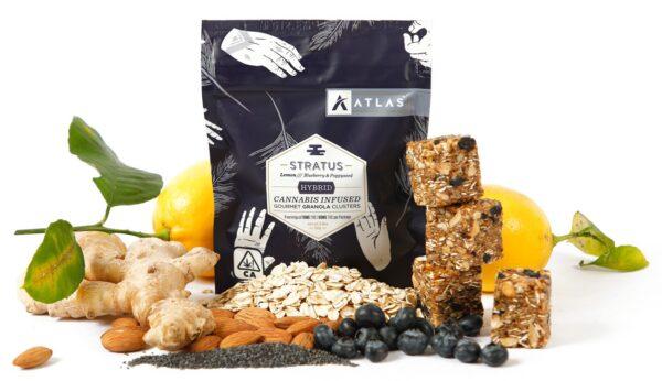 Atlas Edibles Stratus Cannabis infused Gourmet Granola Clusters