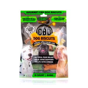 Hempbombs CBD Dog Biscuits 8 Count
