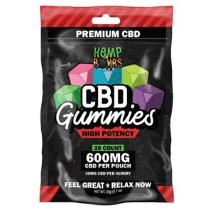 Hempbombs High Potency CBD Gummies 20 Count