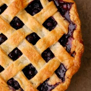 Mountain Man Blueberry Pie