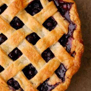 Mountain Man Blueberry Pie